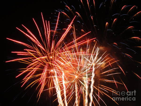 Wall Art - Photograph - Elctric City Fireworks 2013 Xiv by Daniel Henning