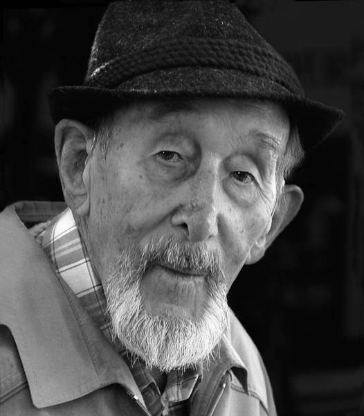 Photograph - Elder German Gent With Hat And Beard by Ginger Wakem