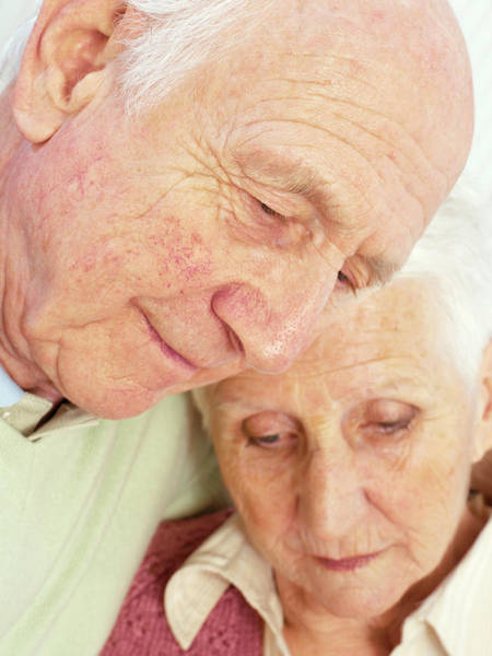 Comfort Photograph - Elderly Couple by Kate Jacobs/science Photo Library