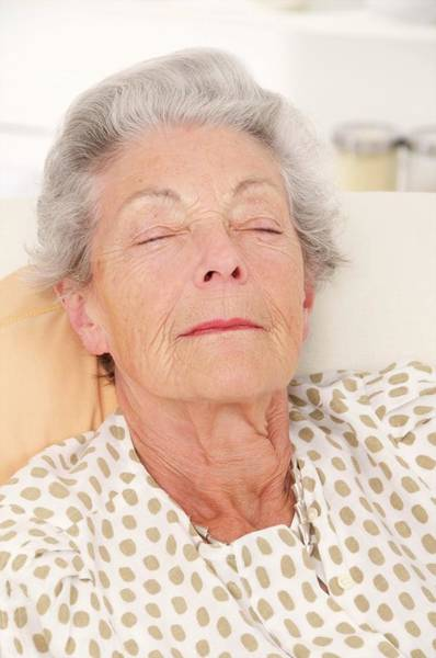 Wall Art - Photograph - Elderly Woman Resting by Lea Paterson/science Photo Library