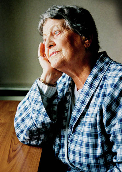 Senior Photograph - Elderly Woman by Samuel Ashfield/science Photo Library