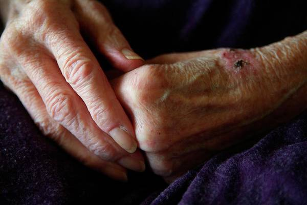 Wall Art - Photograph - Elderly Woman's Hands by Hannah Gal
