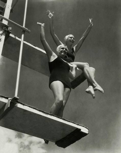 Bathing Suit Photograph - Eleanor Holm And Helene Madison by Edward Steichen