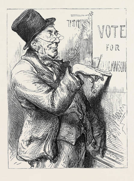 Options Drawing - Election Sketches Local Option 1880 by English School