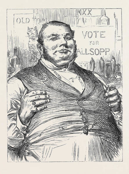 Wall Art - Drawing - Election Sketches Measures Not Men 1880 by English School