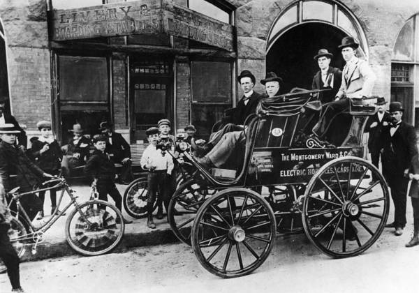Photograph - Electric Automobile, 1897 by Granger