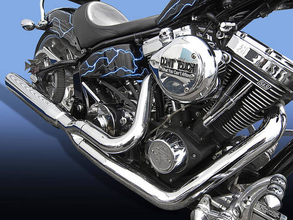 Photograph - Electric Blue Harley by Gill Billington