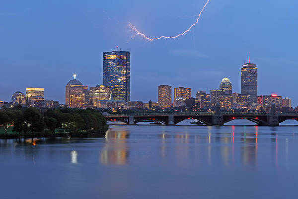 Wall Art - Photograph - Electric Boston by Juergen Roth