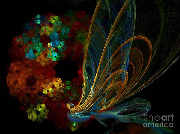 Digital Art - Electric Butterfly by Lance Sheridan-Peel