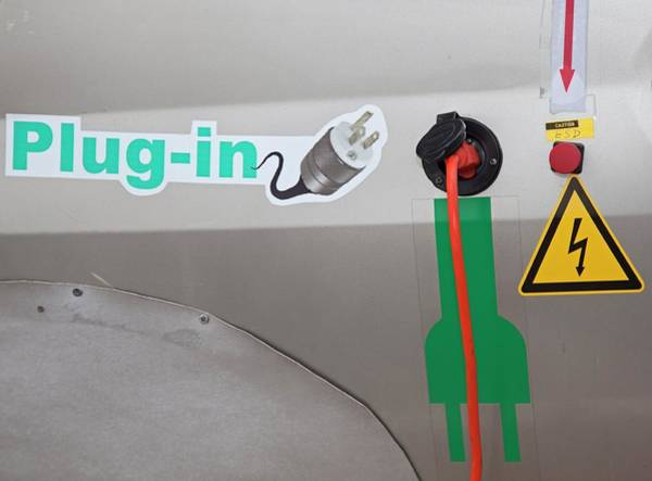 Plug-in Photograph - Electric Car Fuelling Point by Jim West