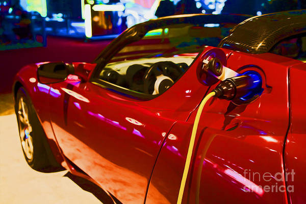 Photograph - Electric Car by Jim West