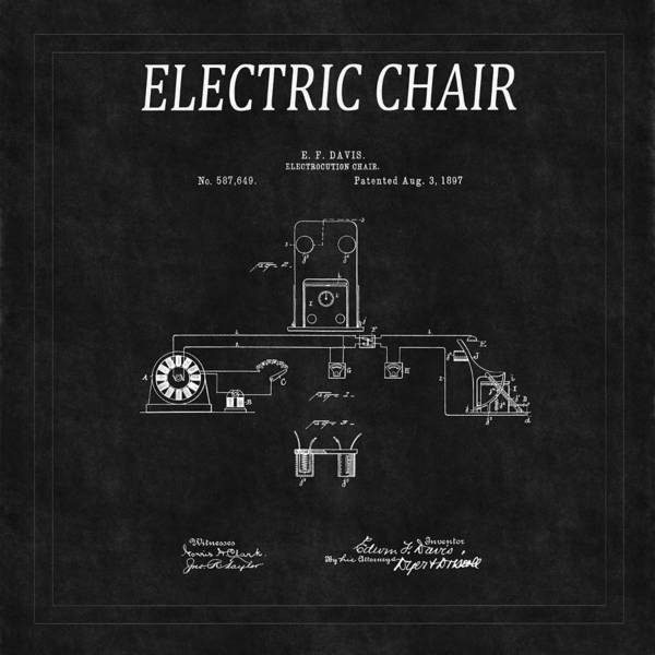 Photograph - Electric Chair Patent 6 by Andrew Fare