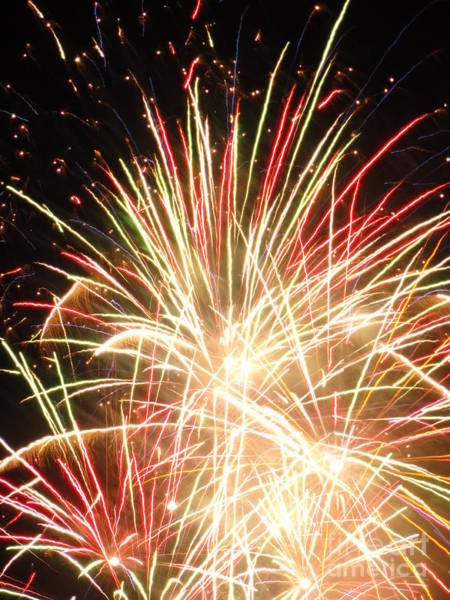 Wall Art - Photograph - Electric City Fireworks 2013 Iv by Daniel Henning