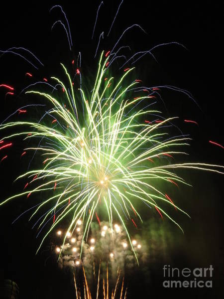 Wall Art - Photograph - Electric City Fireworks 2013 V by Daniel Henning
