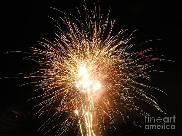Wall Art - Photograph - Electric City Fireworks 2013 Vi by Daniel Henning