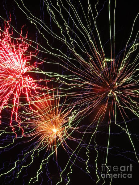 Wall Art - Photograph - Electric City Fireworks 2013 Xii by Daniel Henning