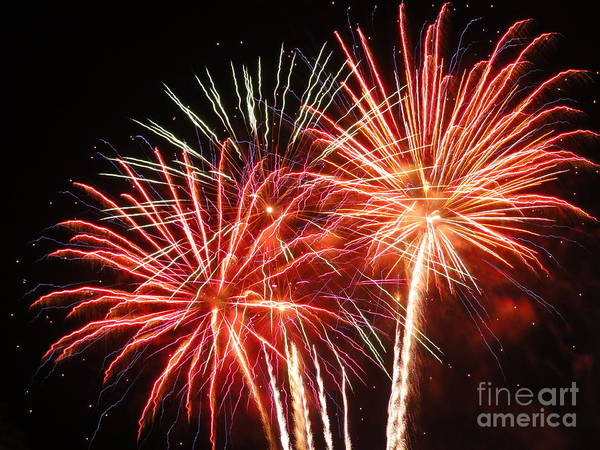 Wall Art - Photograph - Electric City Fireworks 2013xiii by Daniel Henning