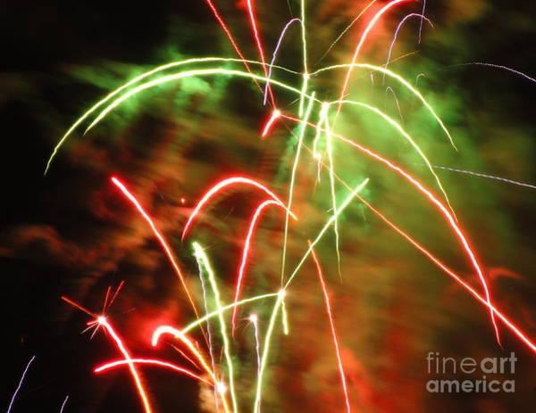 Wall Art - Photograph - Electric City Fireworks Ix by Daniel Henning