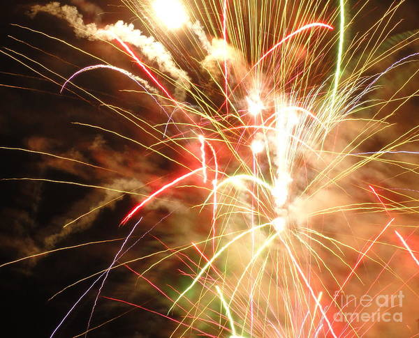 Wall Art - Photograph - Electric City Fireworks X by Daniel Henning