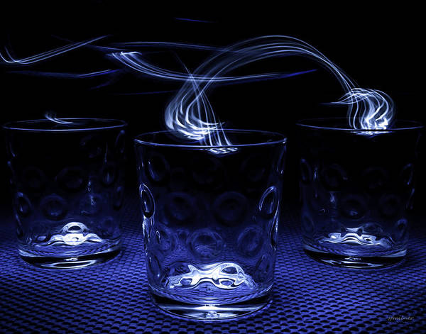 Photograph - Electric Cocktails - Light Painting by Steven Milner