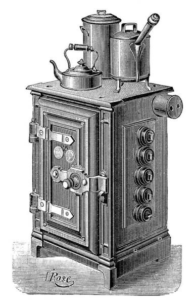 1894 Photograph - Electric Cooking Stove by Science Photo Library