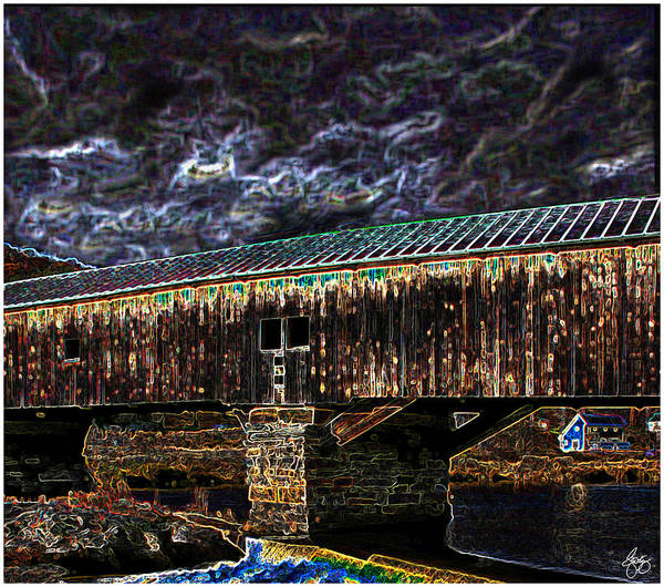 Photograph - Electric Coolade Covered Bridge by Wayne King
