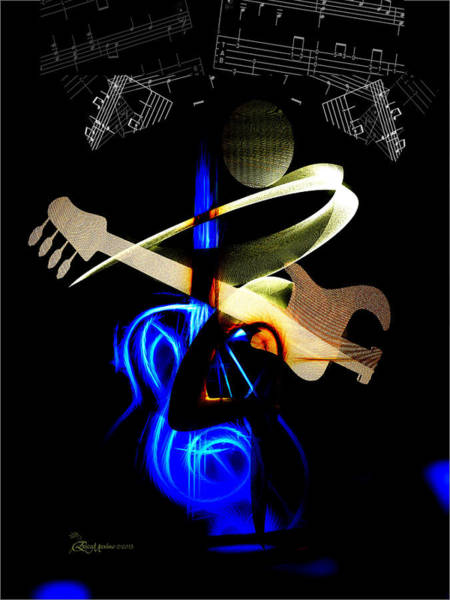 Digital Art - Electric Guitar by Ericamaxine Price