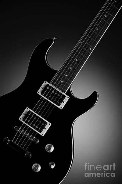 Fret Board Photograph - Electric Guitar In Black And White by M K Miller