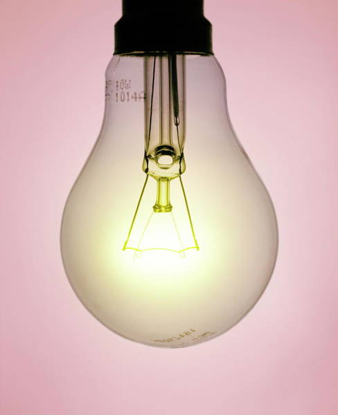 Electric Lightbulb Art Print