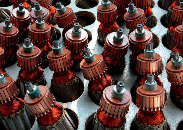 Manufacturing Plant Wall Art - Photograph - Electric Motors by Sputnik/science Photo Library