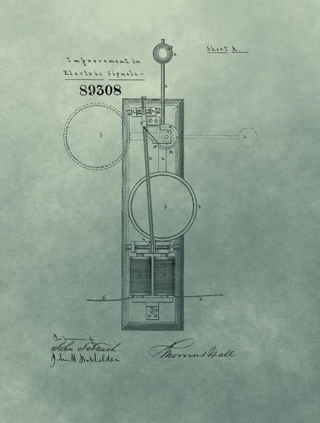 Electric Mixed Media - Electric Signal Patent  by Dan Sproul