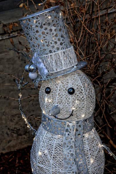 Electric Snowman Art Print