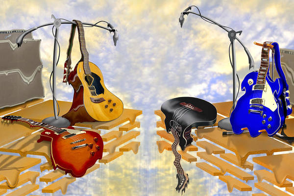 Acoustic Guitar Photograph - Electrical Meltdown 3 by Mike McGlothlen
