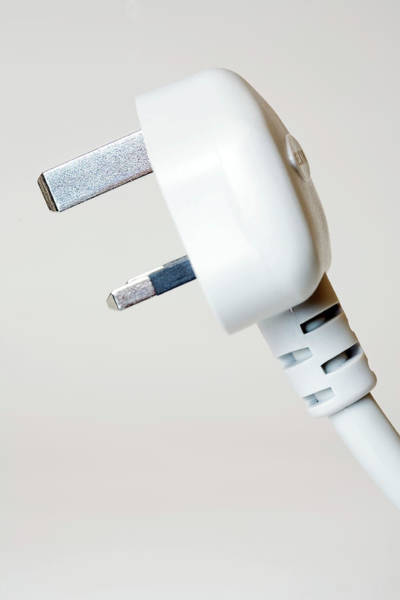 electrical plug wall art - photograph - electrical plug by emmeline  watkins/science photo library