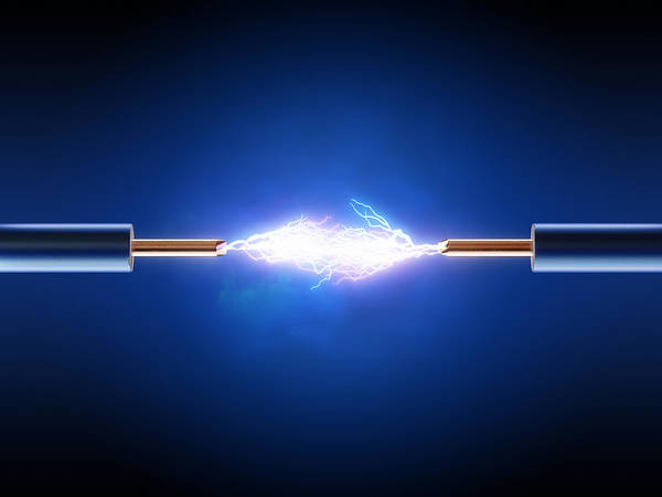 Bright Photograph - Electric Current / Energy / Transfer by Johan Swanepoel