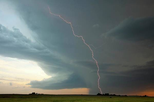 Electric Storm Photograph - Electrical Storm by Roger Hill/science Photo Library