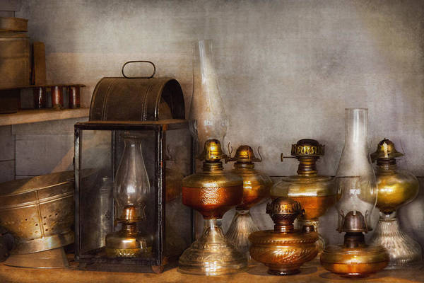 Photograph - Electrician - A Collection Of Oil Lanterns  by Mike Savad