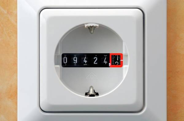 Dials Photograph - Electricity Meter In A Power Socket by Bildagentur-online/ohde/science Photo Library