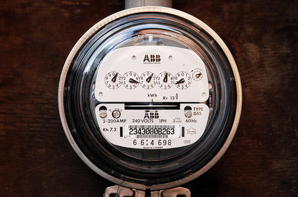 Gauge Photograph - Electricity Meter by Kaj R. Svensson/science Photo Library