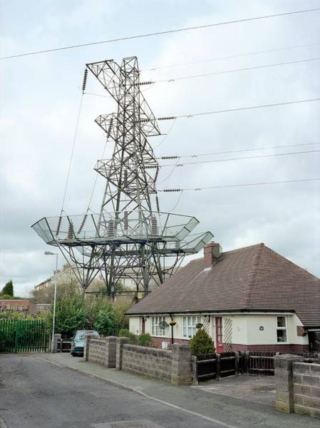 Wall Art - Photograph - Electricity Pylon by Robert Brook/science Photo Library