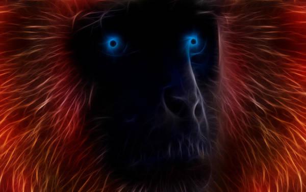 Monkey Wall Art - Digital Art - Electrified by Aged Pixel