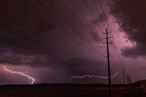 Monsoon Photograph - Electrified by Medicine Tree Studios