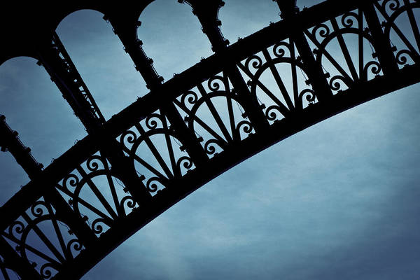 Iron Photograph - Electrify - Eiffel Tower by Melanie Alexandra Price