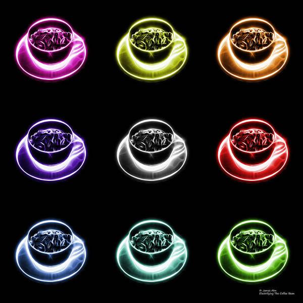 Digital Art - Electrifyin The Coffee Bean Pop Art - Multi-bb by James Ahn
