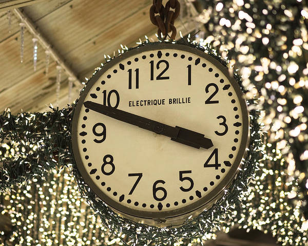 Photograph - Electrique Brillie Clock In Chelsea Market by Rona Black