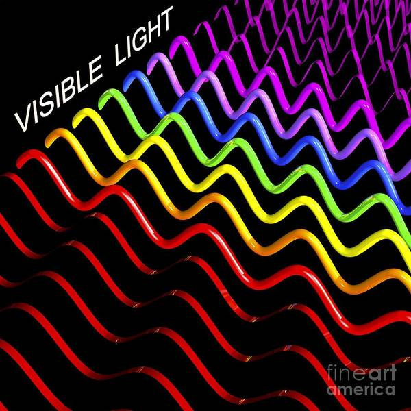 Infrared Radiation Photograph - Electromagnetic Spectrum, Artwork by Russell Kightley