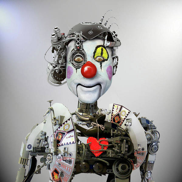 Future Photograph - Electronic Clown by