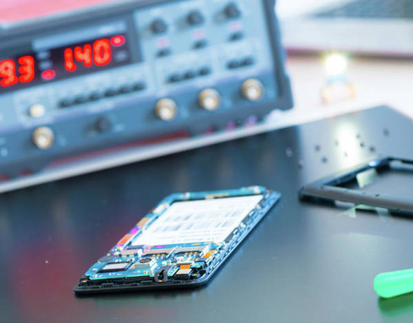 Technological Photograph - Electronic Component For Smartphone by Wladimir Bulgar/science Photo Library