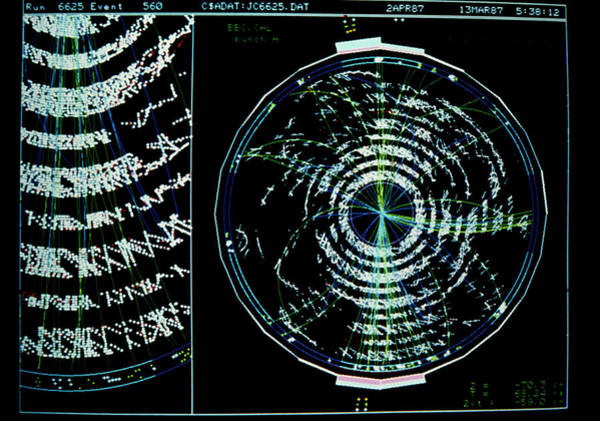 Wall Art - Photograph - Electronic Display Of A 2-jet Event by Fermilab/science Photo Library