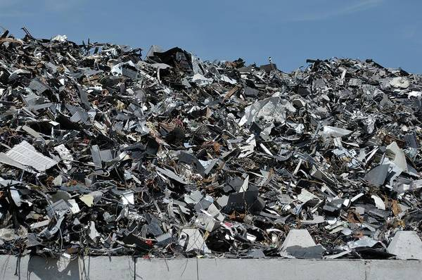 Wall Art - Photograph - Electronics Scrap At Recycling Centre by Robert Brook/science Photo Library